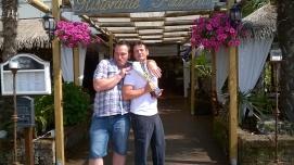 Luca Comin e Fausto Semenzato (Fine terzo tempo al ristorante) :) :)