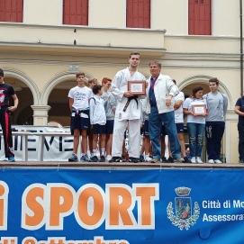 Festa dello sport Montebelluna Marco Nardelotto Premiato per meriti sportivi 2019