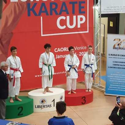 3° Classificato parimerito : Simone- kata under 14- Blu-Marrone